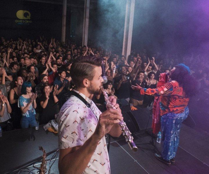Quesoni és una cooperativa sense ànim de lucre que neix el 2016 de la suma de diferents projectes que porten en funcionament des de l'any 2008: la SCP Quesoni dedicada als serveis tècnics vinculats al món de l'espectacle, el festival de música negra Say it Loud, el projecte de Sound System artesanal de Rebelmadiaq Sound…